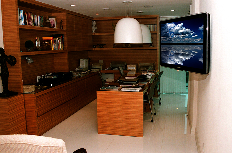home office áudio, vídeo, som e iluminação