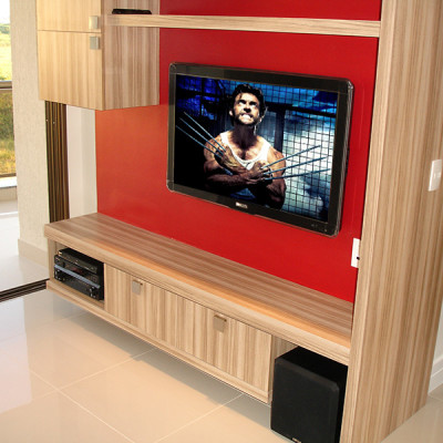 Apartamento modelo home theater